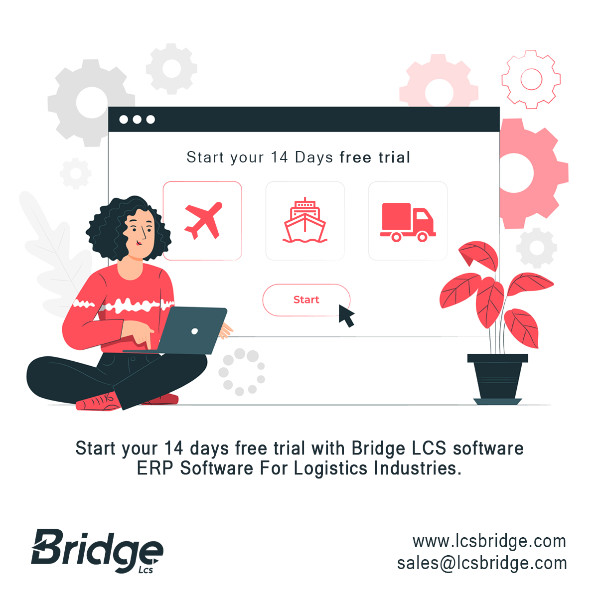 Bridge LCS ERP software free trial | ERP software new version