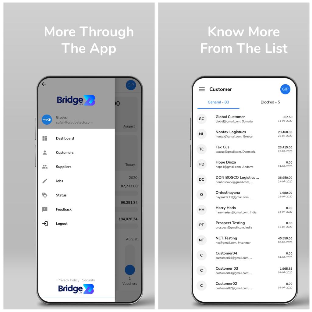 Logistics mobile app features - Dashboard