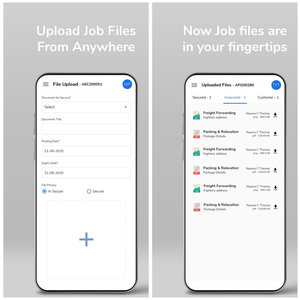 Logistics mobile app android - Job Listing