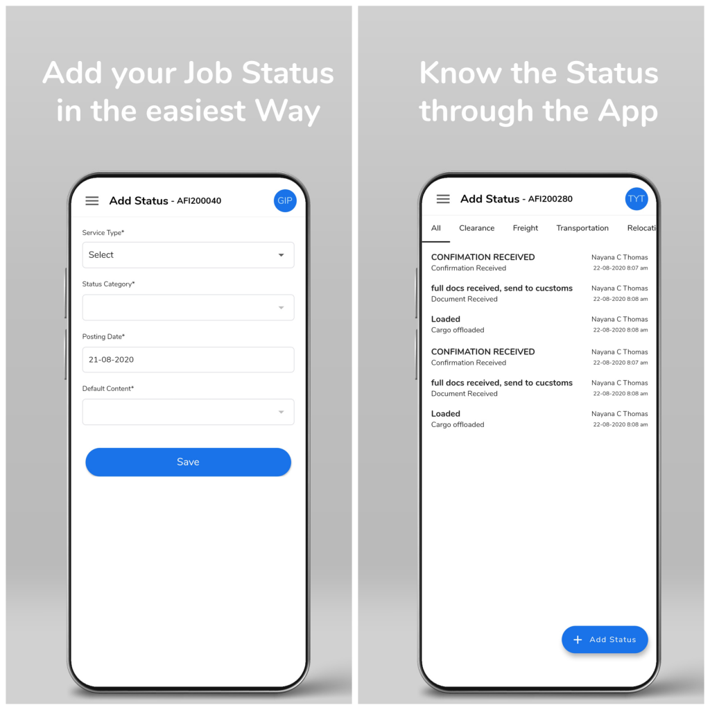 mobile app for logistics companies