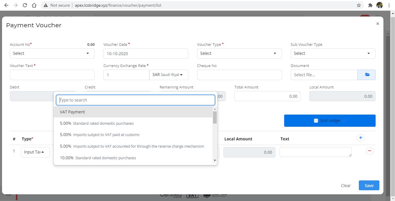 logistics software update version 4.4 - Finance Payment Voucher