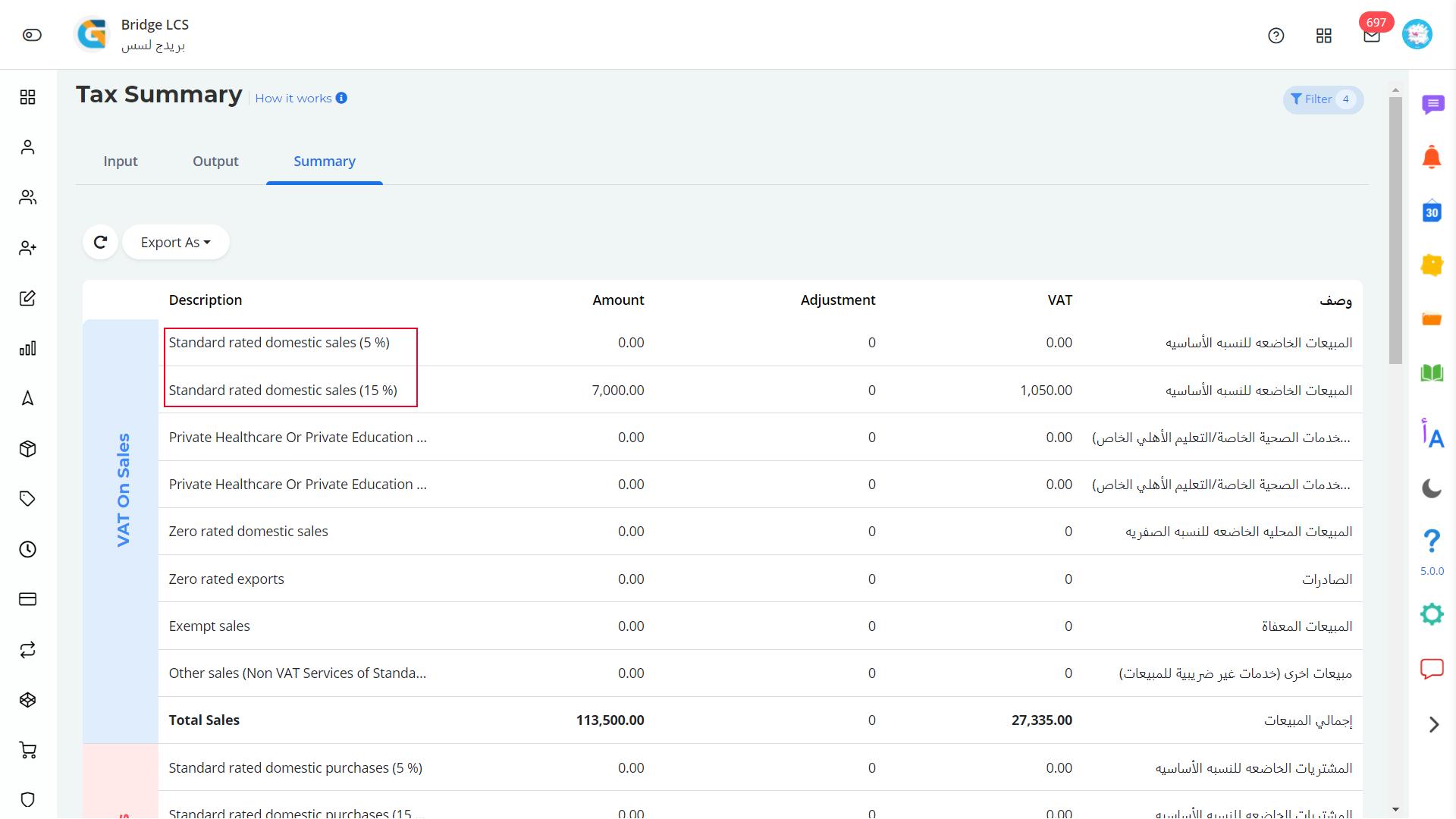 Saudi tax summary logistics software